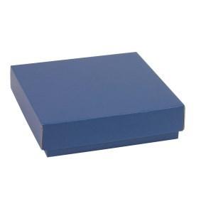Dárková krabička s víkem 200x200x50/40 mm, modrá