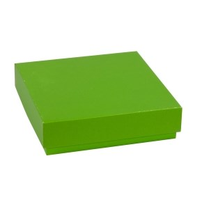 Dárková krabička s víkem 200x200x50/40 mm, zelená