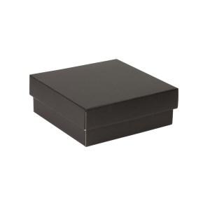 Dárková krabička s víkem 200x200x70/40 mm, černá
