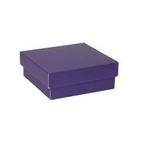Dárková krabička s víkem 200x200x70/40 mm, fialová