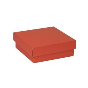 Dárková krabička s víkem 200x200x70/40 mm, korálová