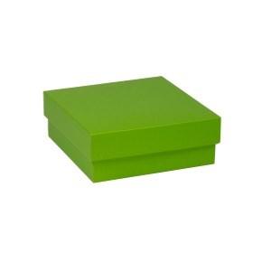 Dárková krabička s víkem 200x200x70/40 mm, zelená