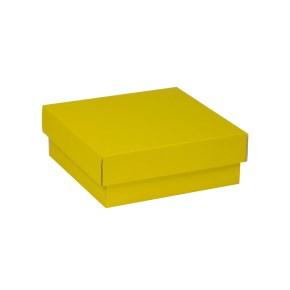 Dárková krabička s víkem 200x200x70/40 mm, žlutá