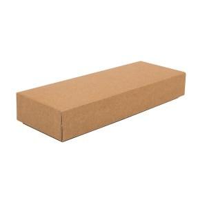 Dárková krabička s víkem 230x70x35/35, hnědá kraftová