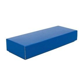 Dárková krabička s víkem 230x70x35/35, modrá matná