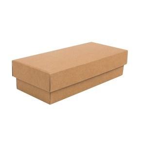 Dárková krabička s víkem 250x100x60/35, hnědá kraftová