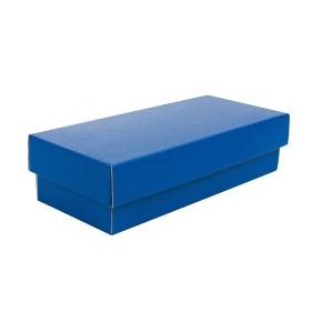 Dárková krabička s víkem 250x100x60/35, modrá matná