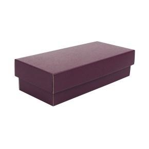 Dárková krabička s víkem 250x100x60/35, vínová matná