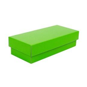Dárková krabička s víkem 250x100x60/35, zelená matná