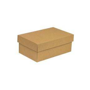 Dárková krabička s víkem 250x150x100/40 mm, hnědá - kraftová