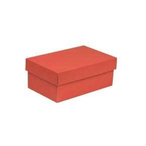 Dárková krabička s víkem 250x150x100/40 mm, korálová