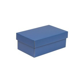 Dárková krabička s víkem 250x150x100/40 mm, modrá