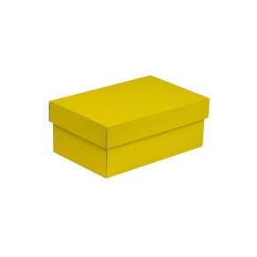 Dárková krabička s víkem 250x150x100/40 mm, žlutá