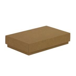 Dárková krabička s víkem 250x150x50/40 mm, hnědá - kraftová