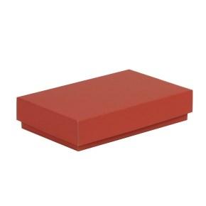 Dárková krabička s víkem 250x150x50/40 mm, korálová