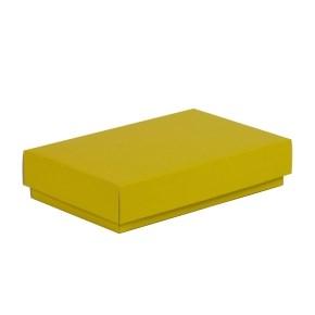 Dárková krabička s víkem 250x150x50/40 mm, žlutá