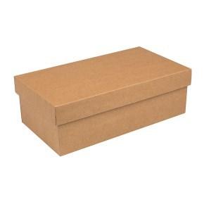 Dárková krabička s víkem 250x170x110/35, hnědá kraftová