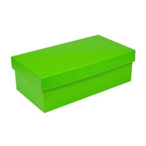 Dárková krabička s víkem 250x170x110/35, zelená matná