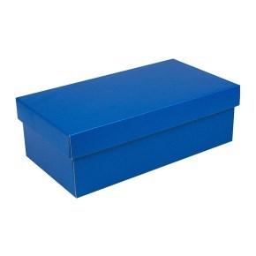 Dárková krabička s víkem 310x160x100/35, modrá matná