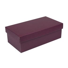Dárková krabička s víkem 310x160x100/35, vínová matná