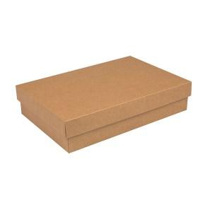 Dárková krabička s víkem 380x270x90/35 mm, kraftová
