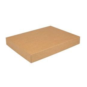 Dárková krabička s víkem 380x285x50/50 mm, kraftová