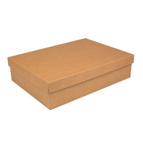Dárková krabička s víkem 405x290x100/35 mm, kraftová