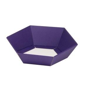 Dárkový koš šestihranný 190x220x60-90 mm, fialový