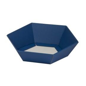 Dárkový koš šestihranný 190x220x60-90 mm, modrý