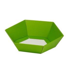 Dárkový koš šestihranný 190x220x60-90 mm, zelený