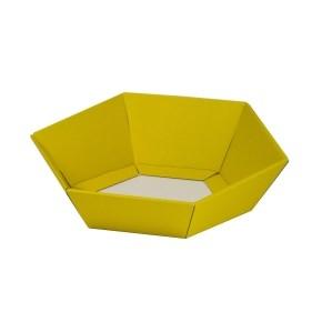 Dárkový koš šestihranný 190x220x60-90 mm, žlutý