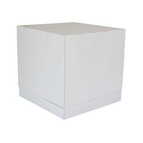 Dortová krabice 350x350x350 mm, pevná bílo/bílá