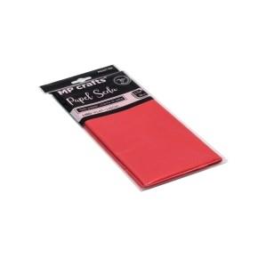 Hedvábný balicí papír 500 x 660 mm, červený, 10 archů
