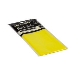 Hedvábný balicí papír 500 x 660 mm, citrónově žlutý, 10 archů