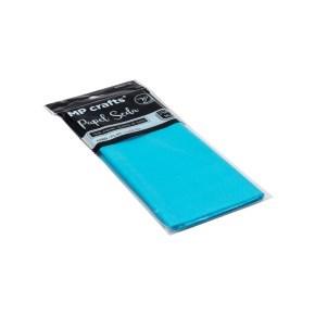 Hedvábný balicí papír 500 x 660 mm, světle modrý, 10 archů