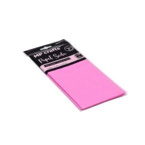 Hedvábný balicí papír 500 x 660 mm, světle růžový, 10 archů