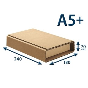 Kartonový obal pro knihy 240x180x max. 70, A5+, 3VVL