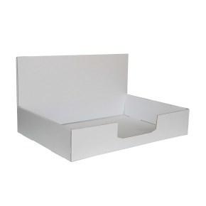Kartonový stojan na prospekty 220x160x60 mm, bílý pro formát A5