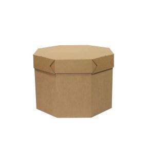 Kartonový stolek dětský, 700x700x500mm, hnědý