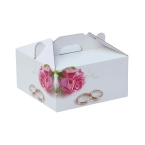 Krabice 100 x 100 x 50 na potraviny, výslužky, cukroví, dekor 150014