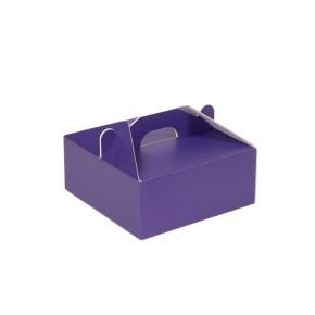 Krabice 190x190x80 mm na potraviny, výslužky, cukroví, fialová