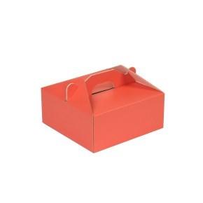 Krabice 190x190x80 mm na potraviny, výslužky, cukroví, korálová