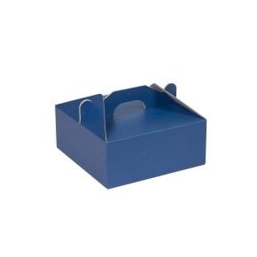 Krabice 190x190x80 mm na potraviny, výslužky, cukroví, modrá