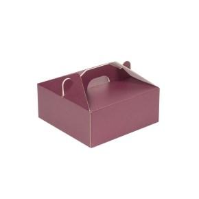 Krabice 190x190x80 mm na potraviny, výslužky, cukroví, vínová