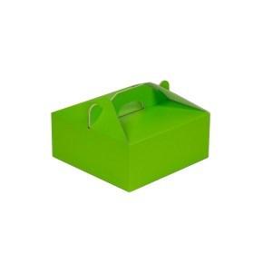 Krabice 190x190x80 mm na potraviny, výslužky, cukroví, zelená