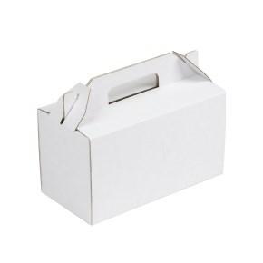 Krabice 200x100x110 mm na potraviny, výslužky, cukroví, bílá