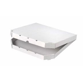 Krabice na pizzu 350x350x30mm, bez potisku, vysekávaná