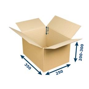Krabice na tiskoviny A4 350x250x200-300 mm 3VVL