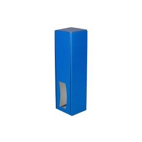 Krabice na víno 85x333x85 mm, modrá matná