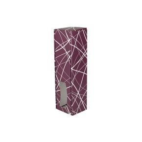 Krabice na víno 85x333x85 mm, vínová se vzorem matná